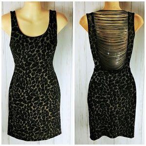 FOREVER 21 Black Backless/Fringe Party Dress SZ L